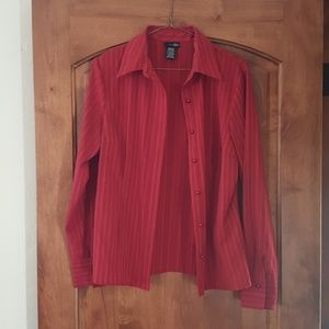 """""""East 5th"""" red dress shirt, blouse, size M"""